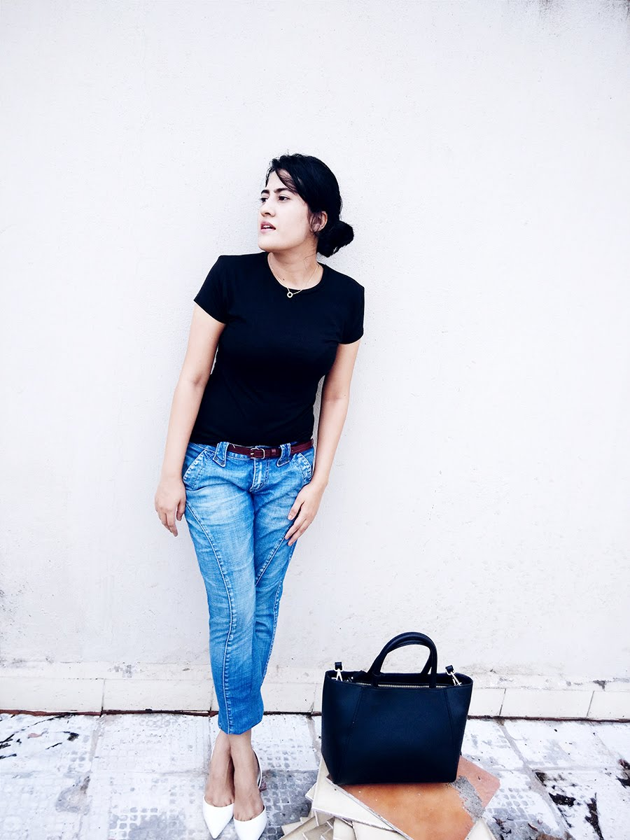 basic casual chic look ,style blog ,indian fashion blog,personal style