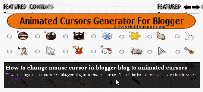 How To Add jQuery Featured Content Slider to Blogger