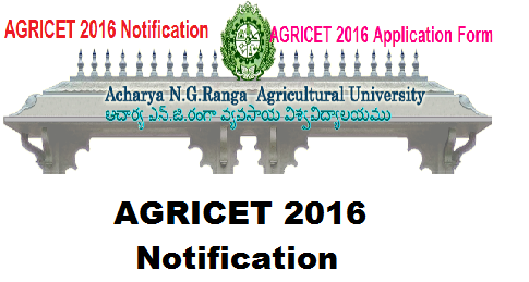 ACHARYA N.G. RANGA AGRICULTURAL UNIVERSITY|AGRICET 2016 Notification|ENTRANCE TEST FOR AGRICULTURE / SEED TECHNOLOGY POLYTECHNIC PASSED CANDIDATES FOR ADMISSION INTO B. Sc. (Ag.) Degree Programme for the Academic Year 2016-17|Agriculture and Seed Technology obtained from ANGRAU / PJTSAU for admission into four years B.Sc. (Ag.) Degree Programme through AGRICET 2016 for the academic year 2016 -17./2016/06/acharya-ng-ranga-agricultural-university-agricet-2016-notification.htm