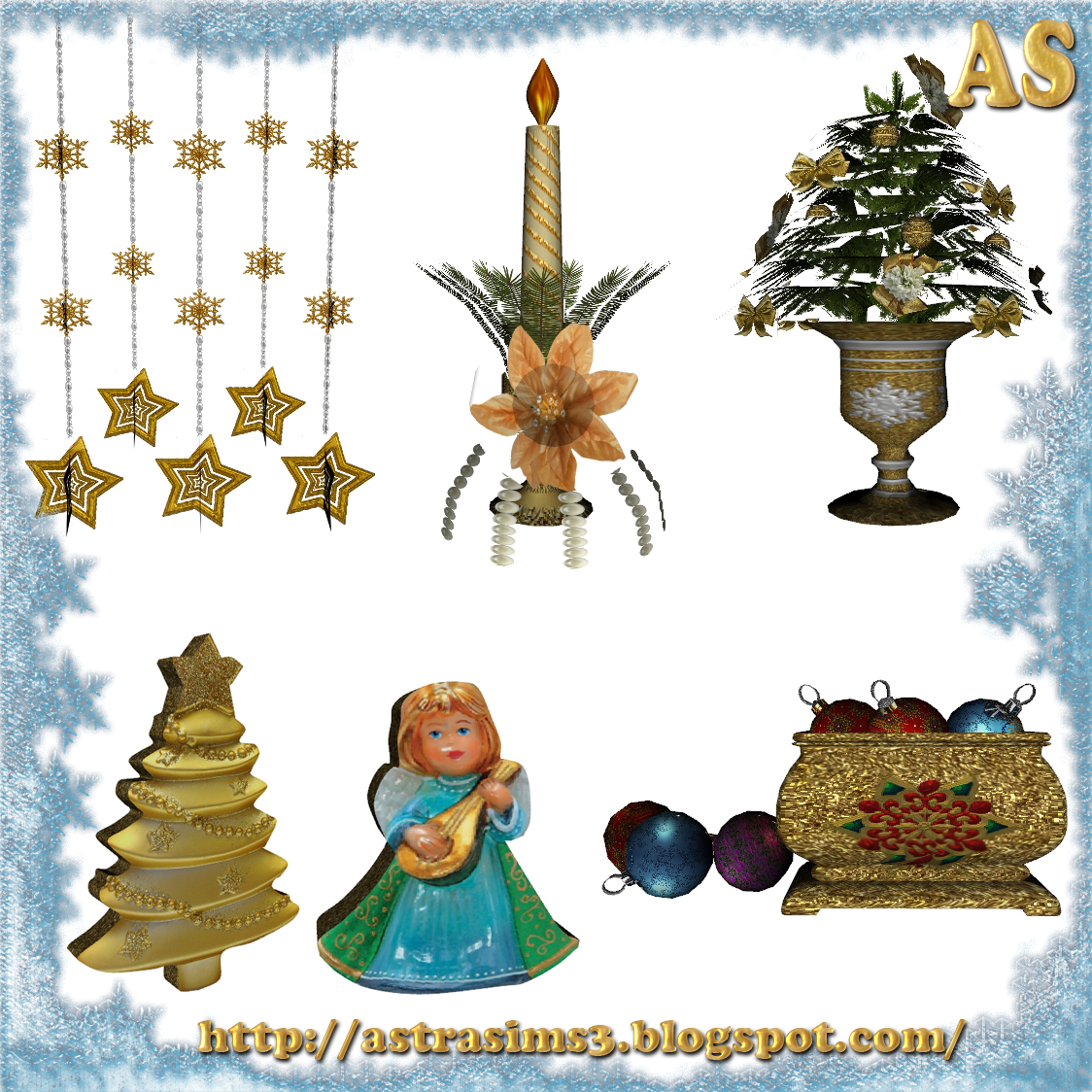 My Sims 3 Blog: Christmas Decor By Astra