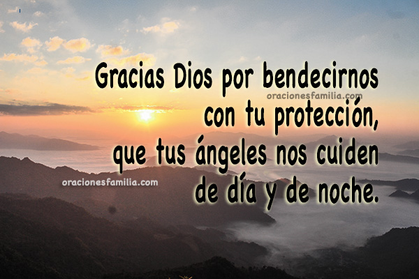 Oración corta cristiana de la mañana, gracias a Dios por nuevo día de bendiciones, imagen con oración de agradecimiento a Dios por Mery Bracho.