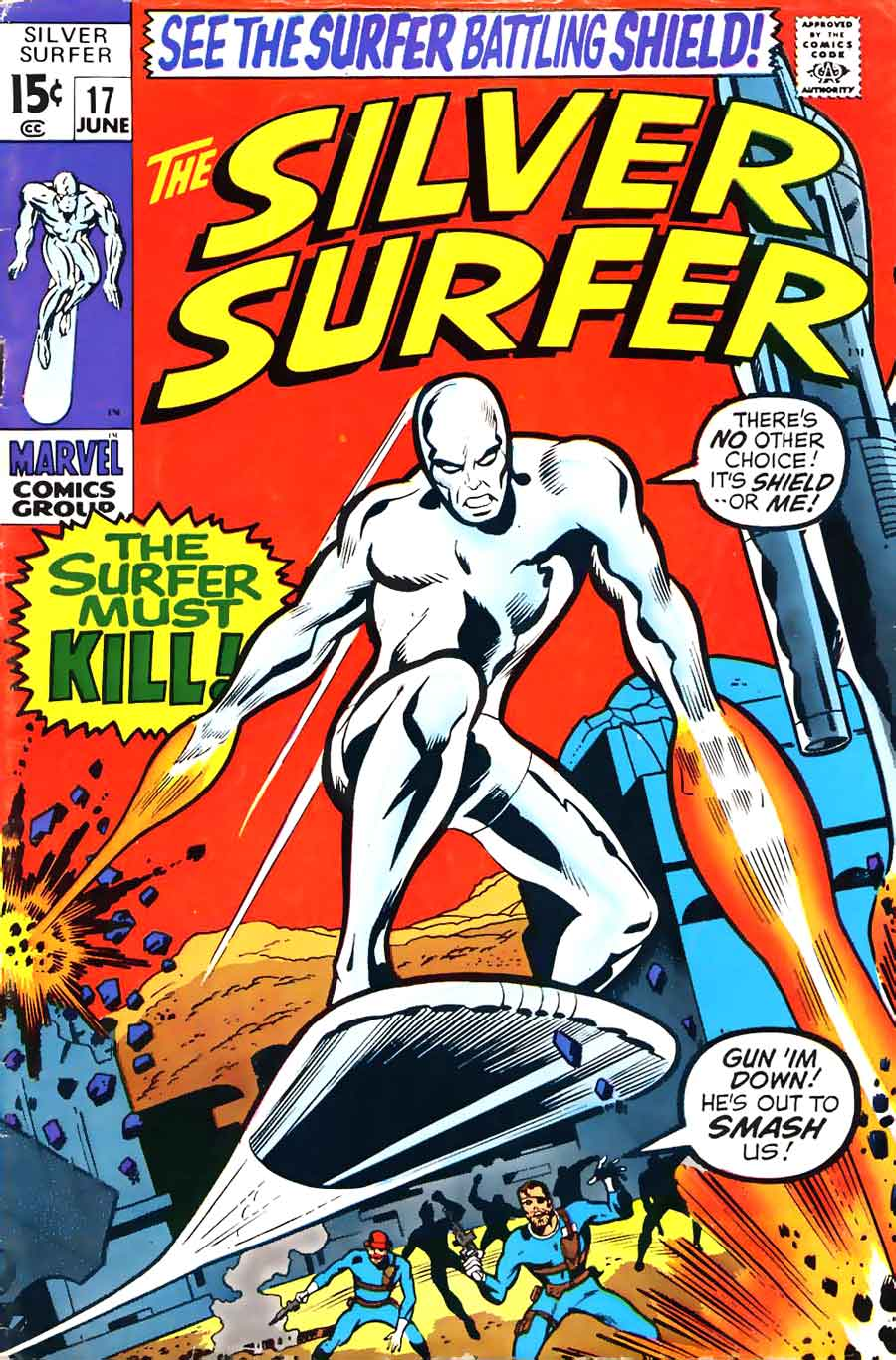 Silver Surfer v1 #17 marvel comic book cover art by Barry Windsor Smith