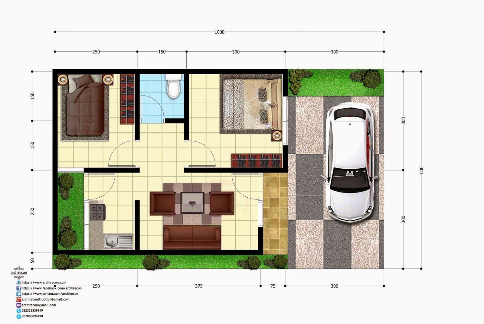 Denah Rumah Minimalis Surabaya
