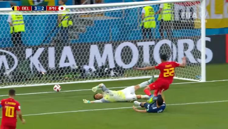 El gol de la victoria belga llegó el último segundo del partido / CAPTURA FIFA TV