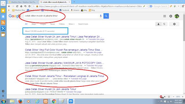 Jasa halaman 1 google pondok gede