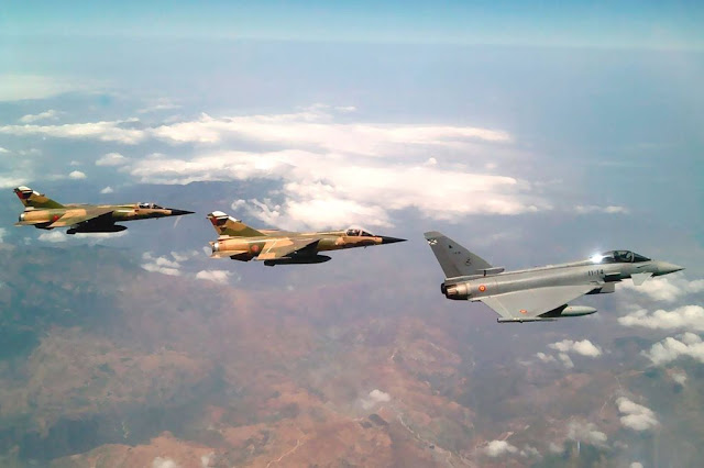 Spanish Eurofighter train Moroccan Mirage F-1