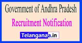 Government of Andhra Pradesh Recruitment Notification