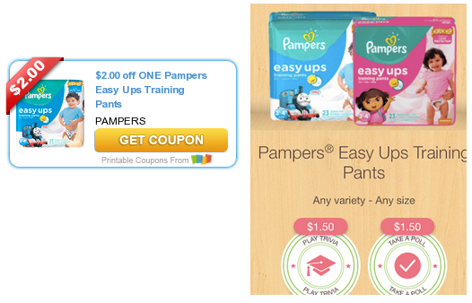 pampers easy ups coupons