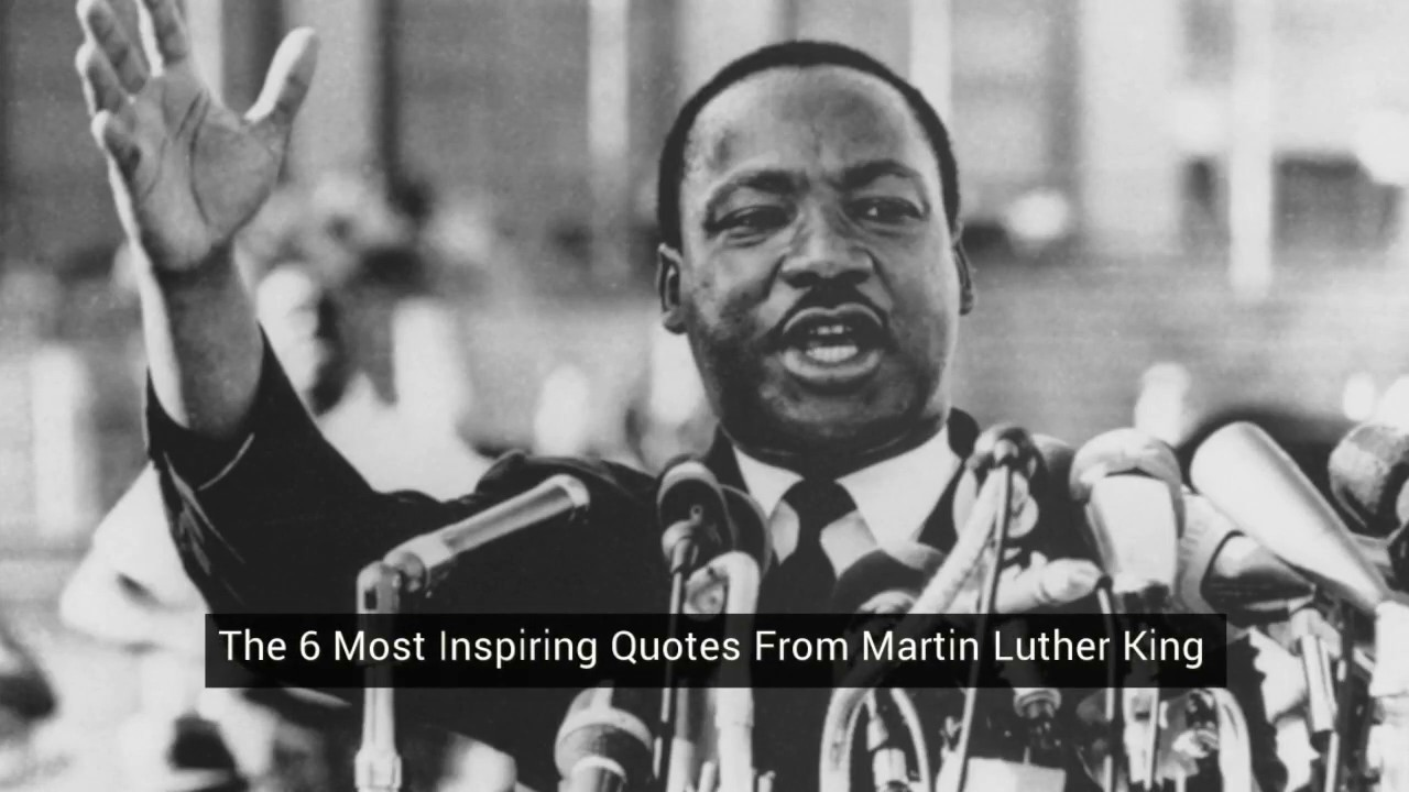 Six Most Inspiring Quotes from Martin Luther King [video]