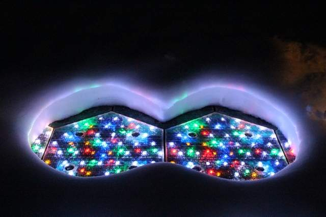 Solar Roadway dengan lampu LED interaktif