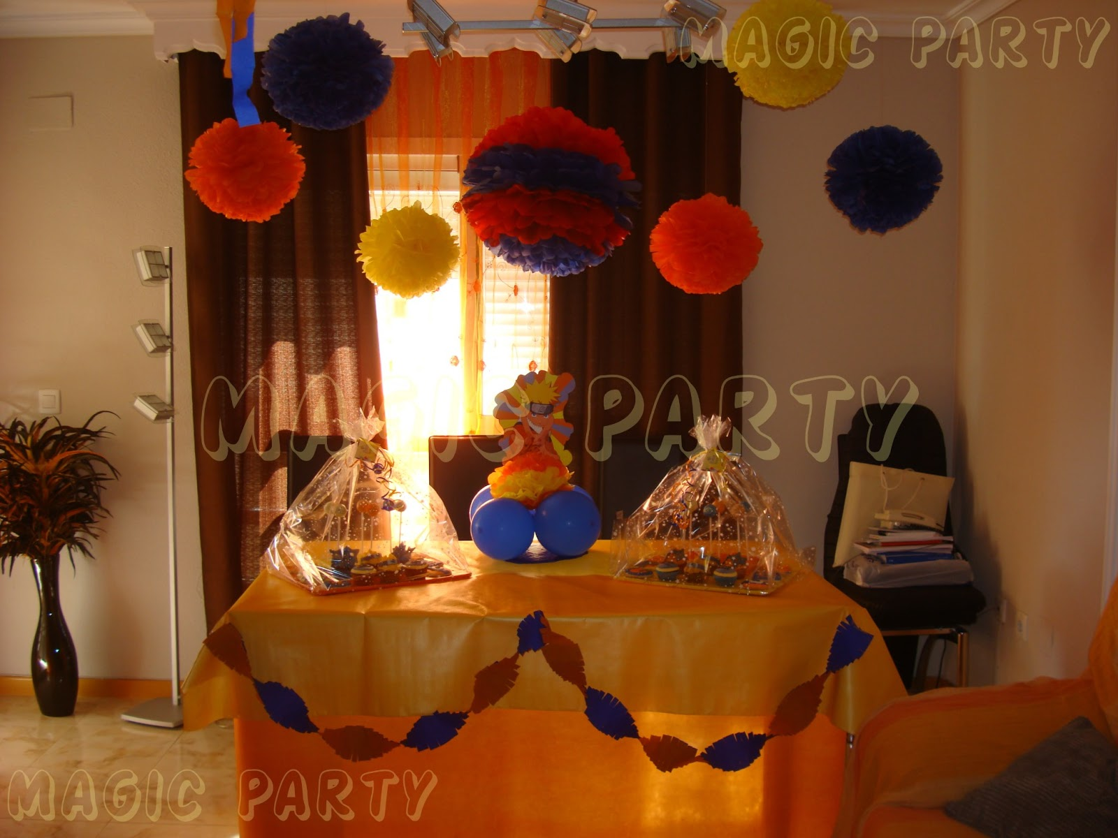 Magic party cumplea os de naruto for Adornos para mi casa