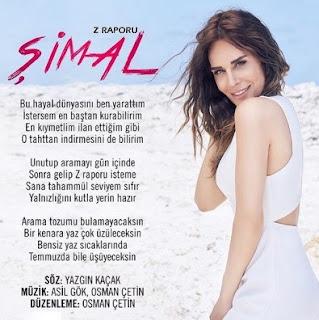 Sevilen şarkıcı Şimal'in merakla beklenen yepyeni şarkısı 'Z Raporu' sitemizde yayınlanmıştır.Şarkıyı dinleyebilir ve sözlerini okuyabilirsiniz.