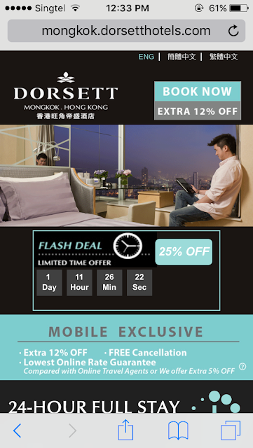 Dorsett Mongkok Mobile Website