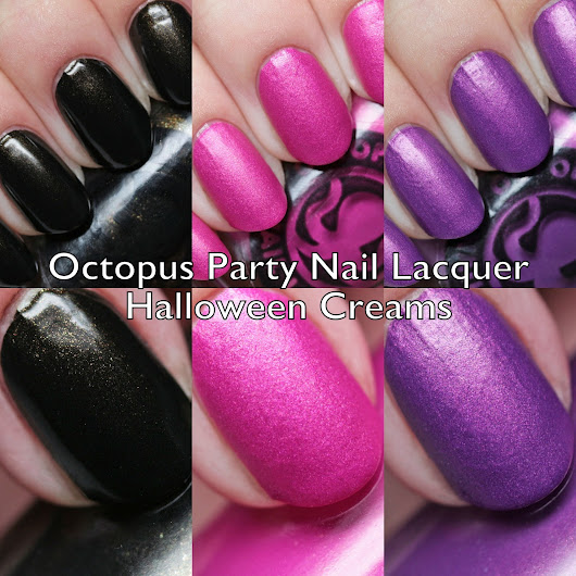 Octopus Party Nail Lacquer Halloween Creams Swatches and Review
