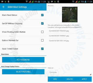 BBM mod Change Display pictures otomatis apk Full Latest 3.3.0.16