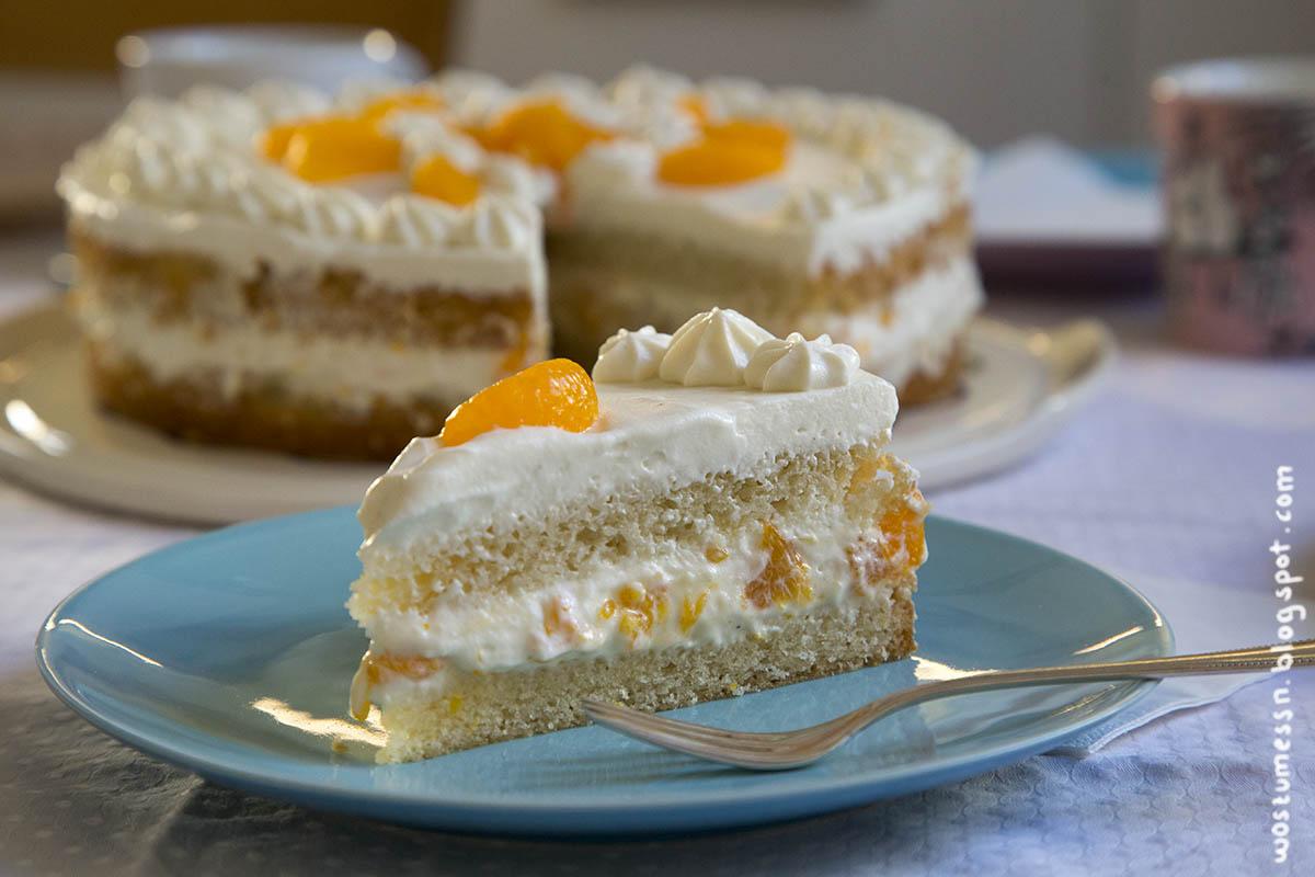 Wos Zum Essn Woah Die Vegane Mandarinen Kasesahne Torte O O