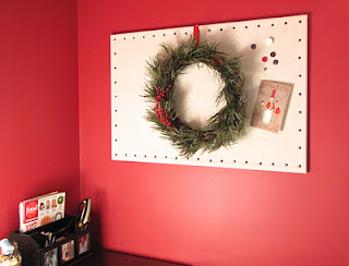 how to make a fabric covered bulletin board