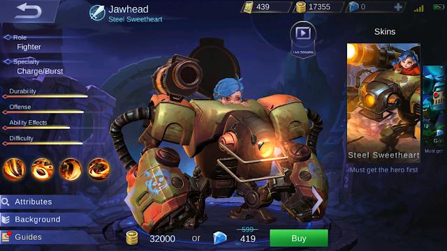 Hero Baru Telah Muncul di Mobile Legends, Jawhead Si Tukang Lempar!