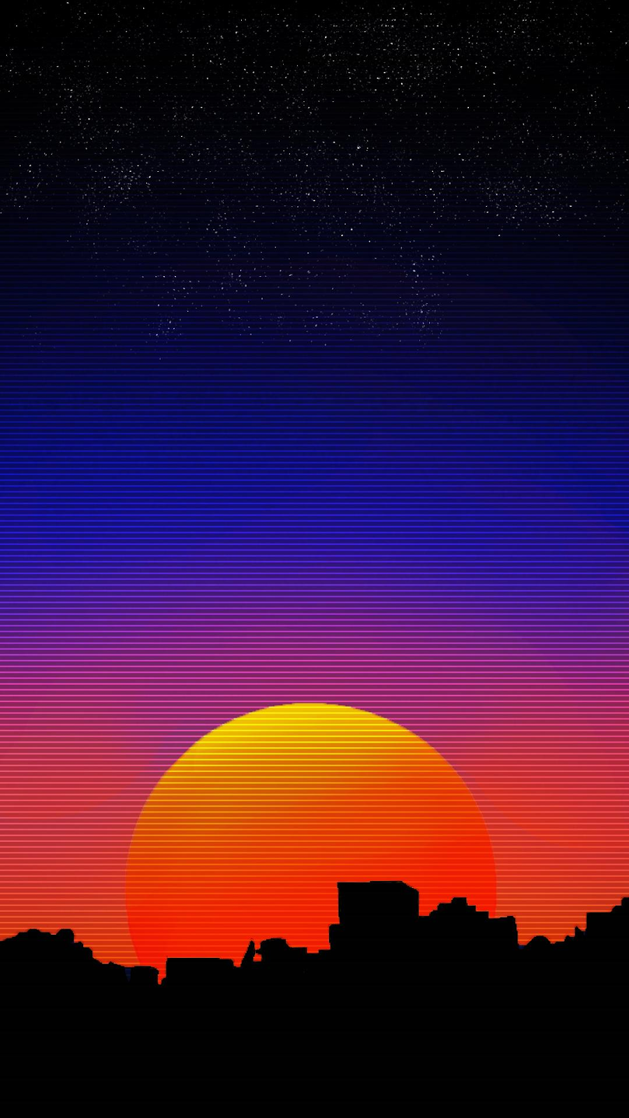 sunset vaporwave