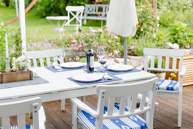 Outdoor Sitzkissen selbstgemacht, Pomponetti