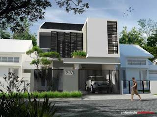 warna cat depan rumah yang elegan www.rumah-hook.com
