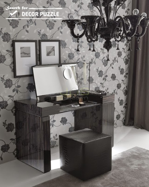 black dressing tables, modern dressing table designs for small bedroom