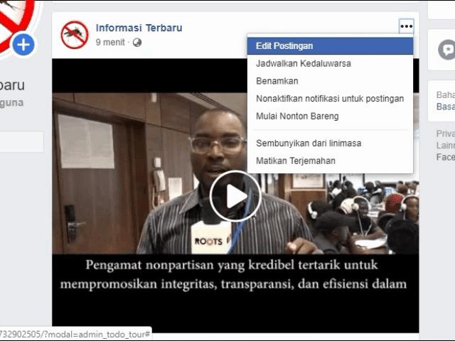 Cara menambahkan tumbhnail custom video Facebook pakai PC/laptop