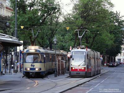 ULF A Wiener Linien i GT8 z Wiener Lokalbahnen