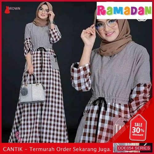 DDE054S70 Salma C Tunik Muslim Lebaran Polos 2019 Kancing BMGShop