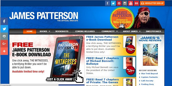 James Patterson y su web