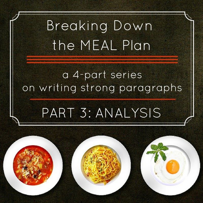 Breaking Down the MEAL Plan: Part 3: Analysis