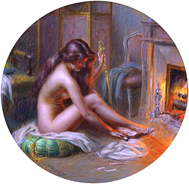 Delphin Enjolras - davanti al fuoco - sex paintings