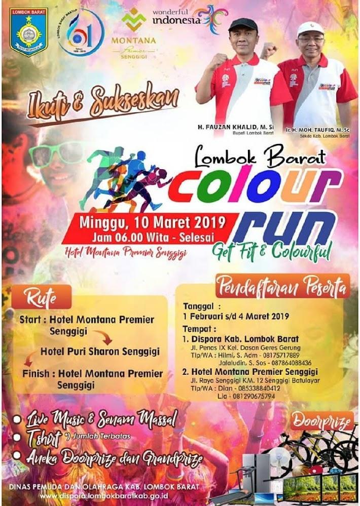 Lombok Barat Color Run • 2019