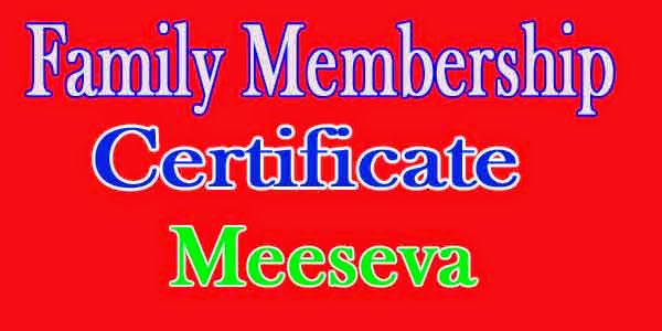 Family Membership Certificate Apply in Meeseva