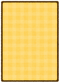 トレーディングカードのテンプレート(裏・黄色)