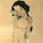 'Noia nua amb els cabells negres (Egon Schiele)'