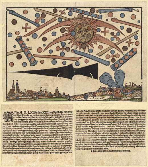 Un reporte en el pequeño diario de Núremberg respecto a la supuesta batalla extraterrestre