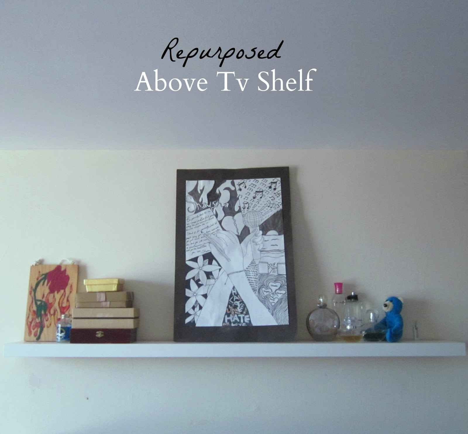 Repurposed Above Tv Shelf