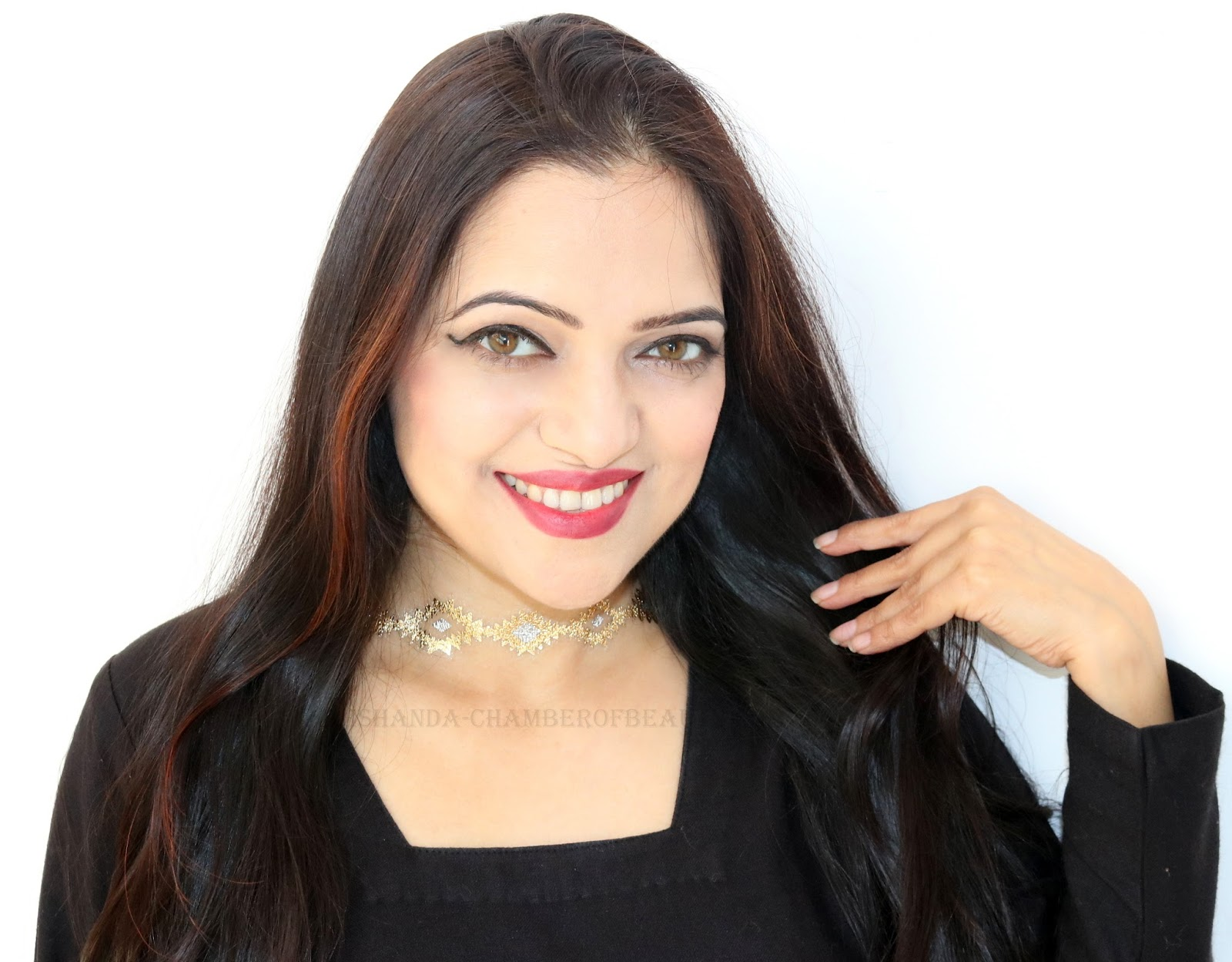 www.rakhshanda-chamberofbeauty.com/Fall Makeup Look - Burgundy Lips with Natural Eye Makeup/Indian beauty blogger