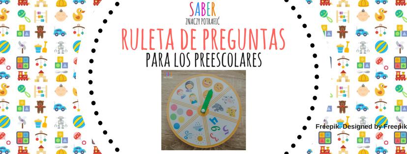 RULETA de preguntas para los preescolares | Ruletka z pytaniami dla przedszkolaków