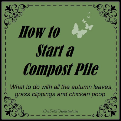 How to start a compost pile.