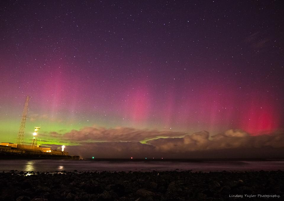 Zorza polarna sfotografowana 07.03.2016 r. - Credits: Lindsey Taylor - Redcar, Wielka Brytania