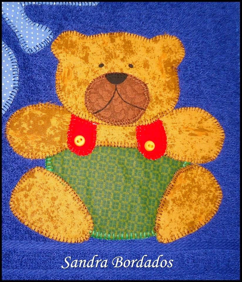 Toalha bordado em patchwork