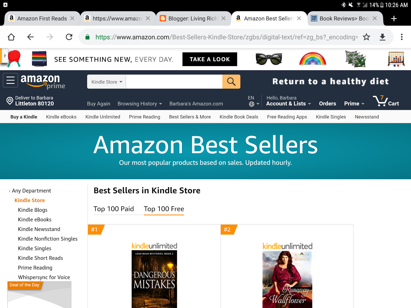 Living Richly In Retirement: Prime Reads, Amazon First Reads