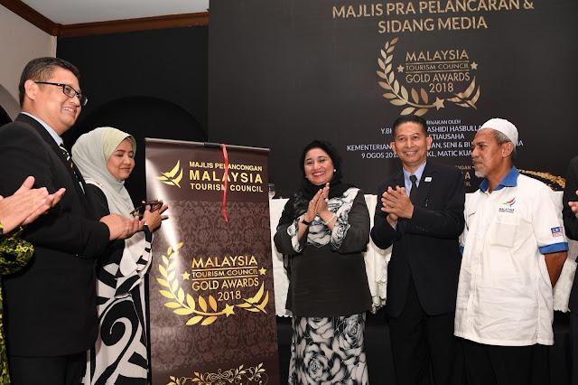 YBhg Dato' Haslina Abdul Hamid, Timbalan Ketua Setiausaha (Pelancongan) merasmikan  Majlis Pra-Pelancaran MTC Gold Award 2018