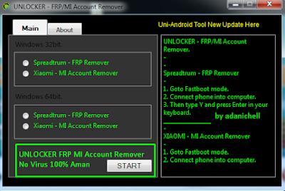 UNLOCKER FRP MI Account Remover