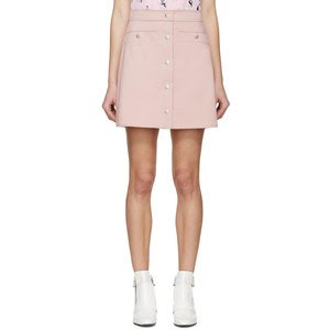 Kenzo pink twill buttoned miniskirt, $122 from Ssense