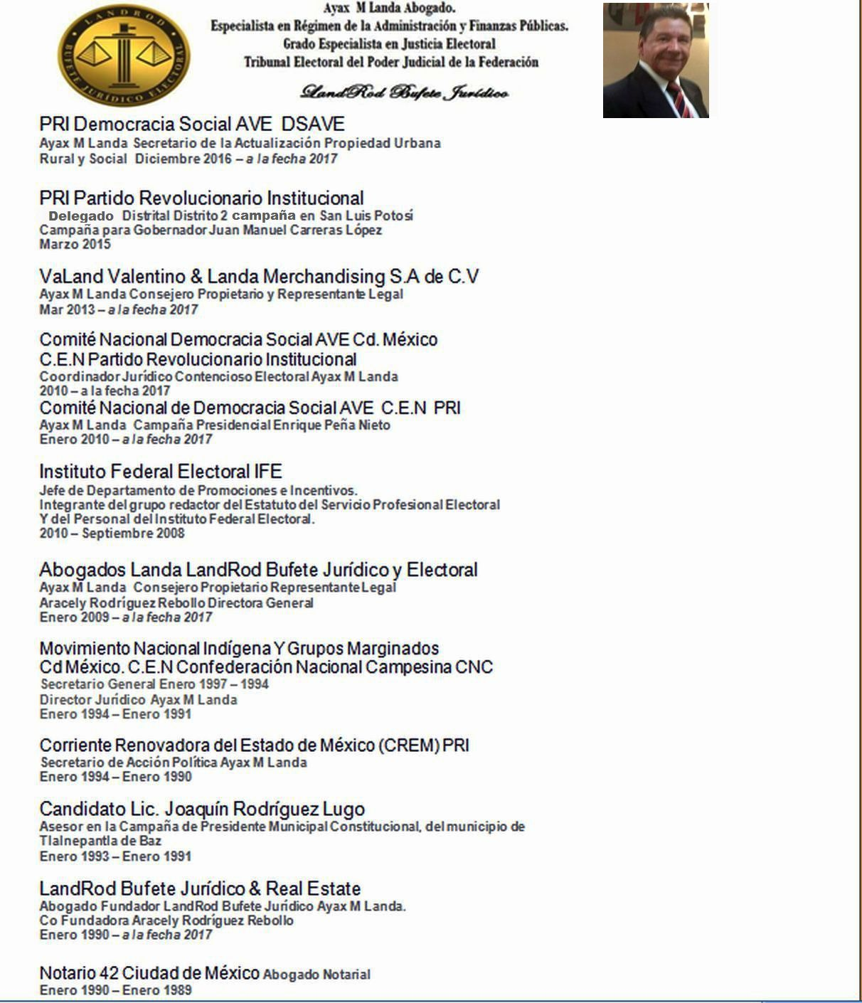 Curriculum Vitae AYAX M LANDA