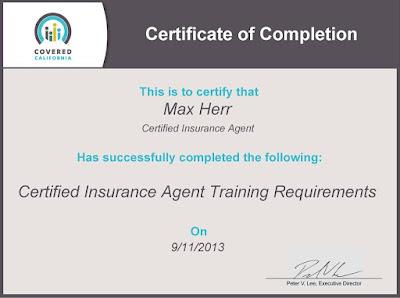 Life Insurance Certificate
