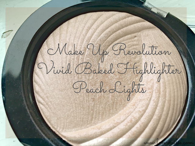 Make Up Revolution Vivid Baked Highlighter Peach Lights; Love, Maisie